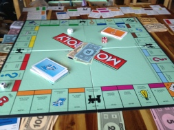 Monopoly is still fun! I also managed to put a hotel on Park Place and Boardwalk for the first time ever.