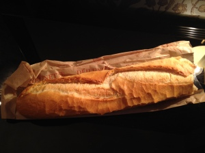 Late night demi baguette.