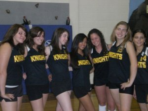 High school volleyball. Please excuse the fake tan....