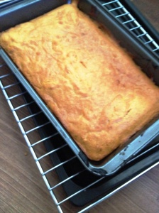 Take 2: Cake! It's quite blurry because I think I was so excited it turned out looking like an actual cake.